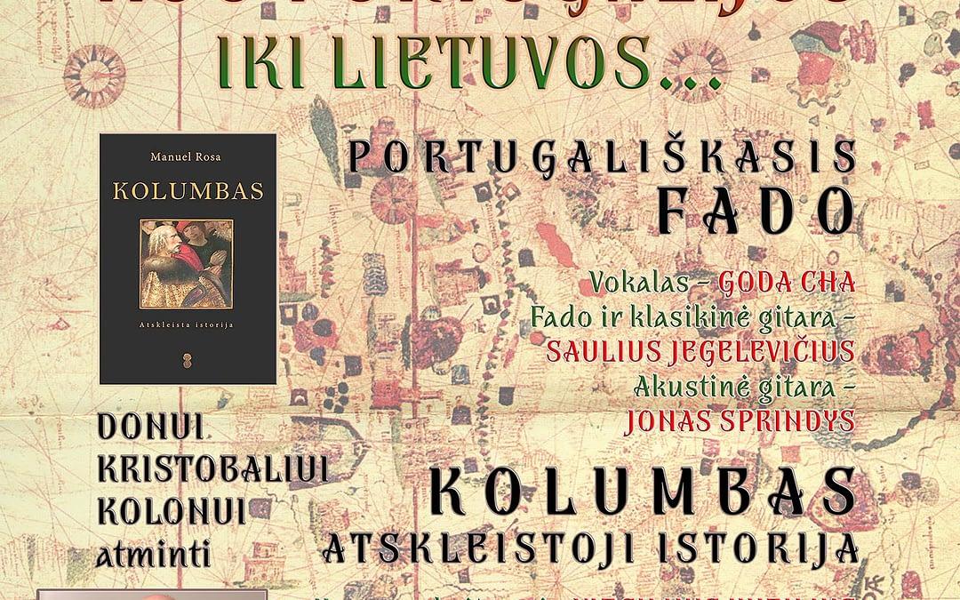 """""""Nuo Portugalijos iki Lietuvos…"""" Koncertas ir knygos pristatymas (2019 05 30)"""