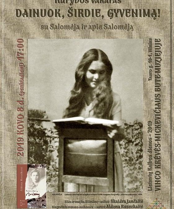"""Kūrybos vakaras """"Dainuok, širdie, gyvenimą! Su Salomėja ir apie Salomėją"""" (nuotraukų galerija)"""