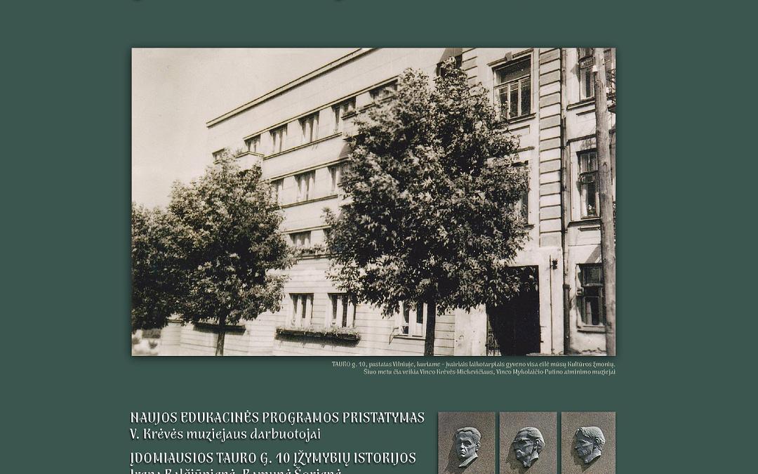 Profesorių namo Tauro g. 10 įžymybių istorijos