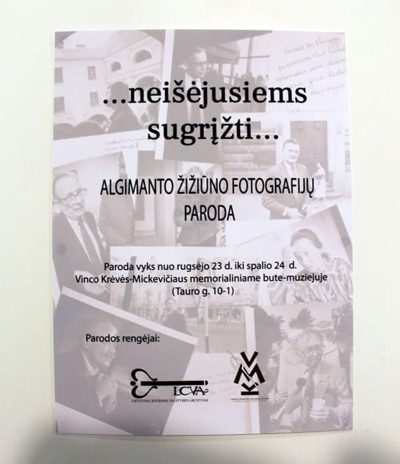 """A. Žižiūno fotoportretų paroda """"neišėjusiems sugrįžti…"""" iš ciklo """"Veidai ir mintys"""" 2020 09 23-2020 10 24"""