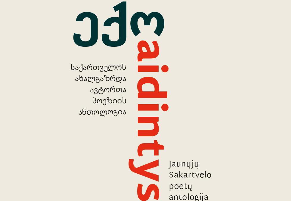 """Kviečiame į jaunųjų Sakartvelo poetų antologijos """"Aidintys"""" pristatymą!"""