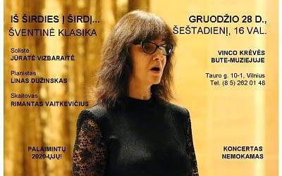 """Koncertas """"Iš širdies į širdį… Šventinė klasika"""" 2019 12 28"""